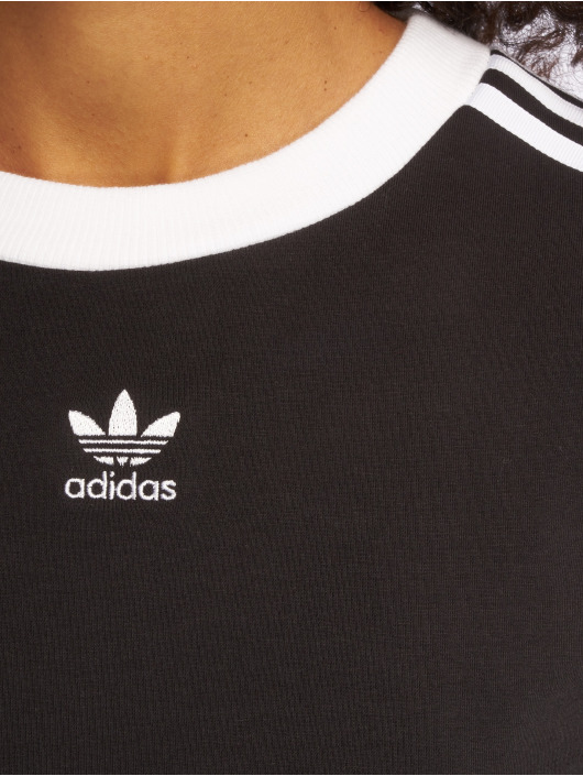 adidas originals Maglietta a manica lunga originals 3 Stripes nero
