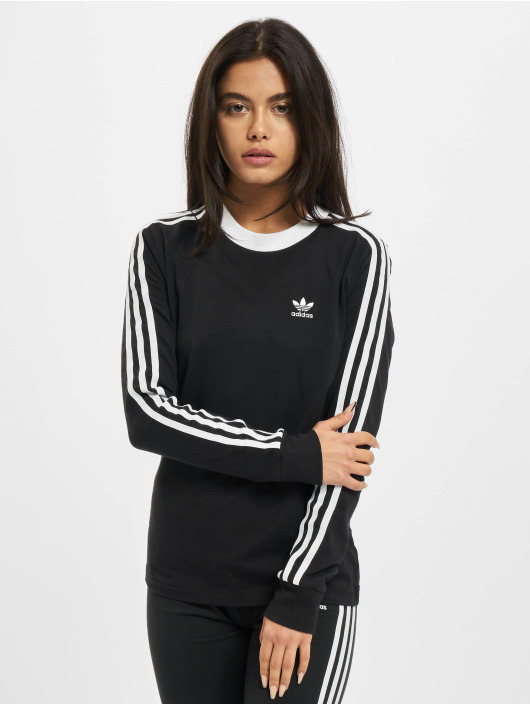 adidas Originals Maglietta a manica lunga 3 Stripes nero