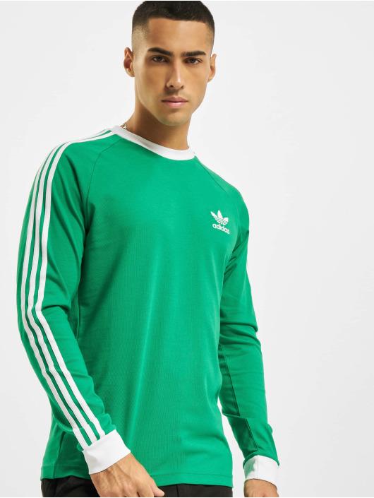 adidas Originals Maglietta a manica lunga 3-Stripes LS T verde