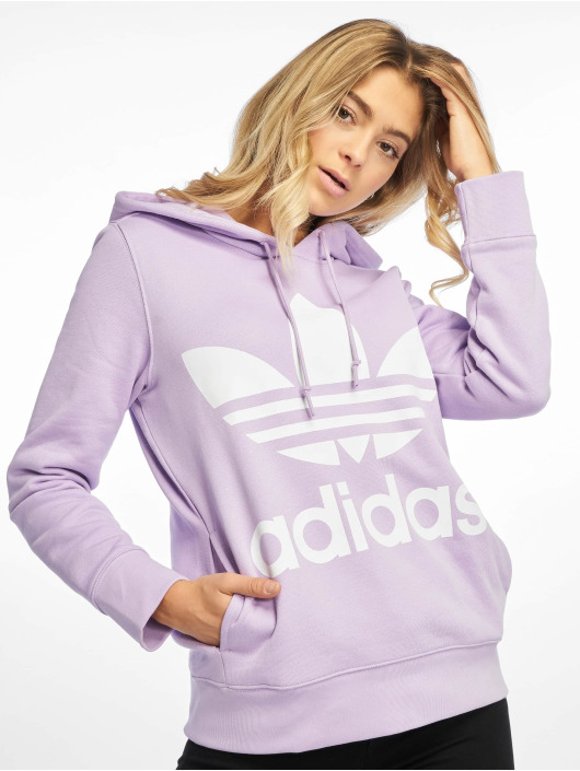 adidas Originals Mikiny Trefoil fialová