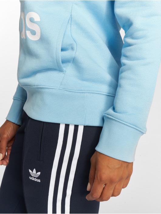 adidas originals Mikiny Trefoil modrá