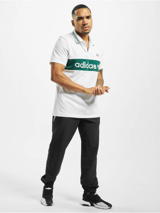 adidas Originals Poloskjorter Stripe Polo hvit
