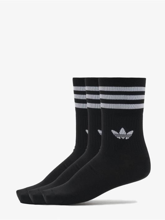 adidas Originals Ponožky Mid Cut Solid 3 Pack èierna