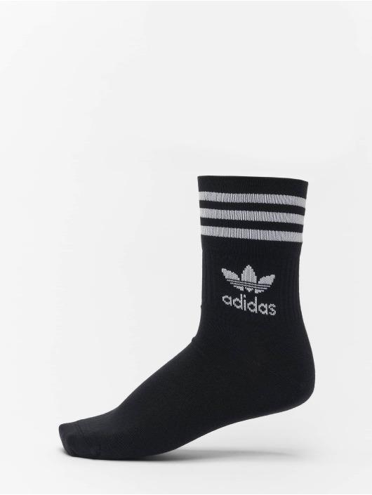adidas Originals Ponožky Mid Cut Crew èierna
