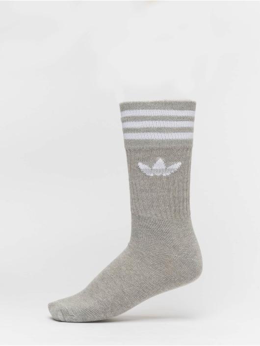 adidas originals Ponožky Solid Crew 2pp šedá