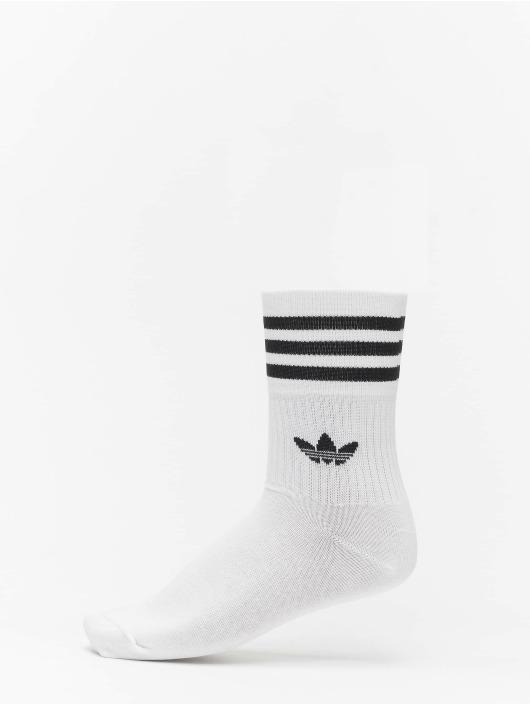 adidas Originals Ponožky Originals Mid Cut Solid 3 Pack bílý