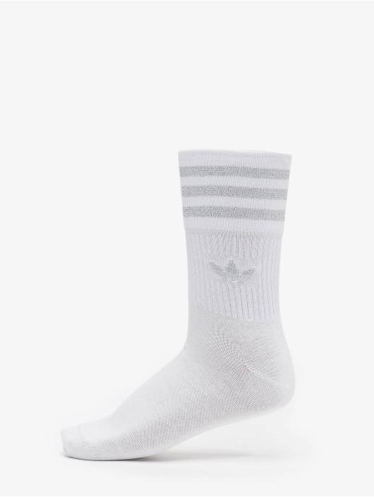 adidas Originals Ponožky Mid Cut Glitter biela
