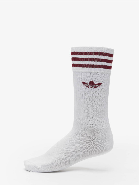 adidas Originals Ponožky Solid Crew 3-Pack biela