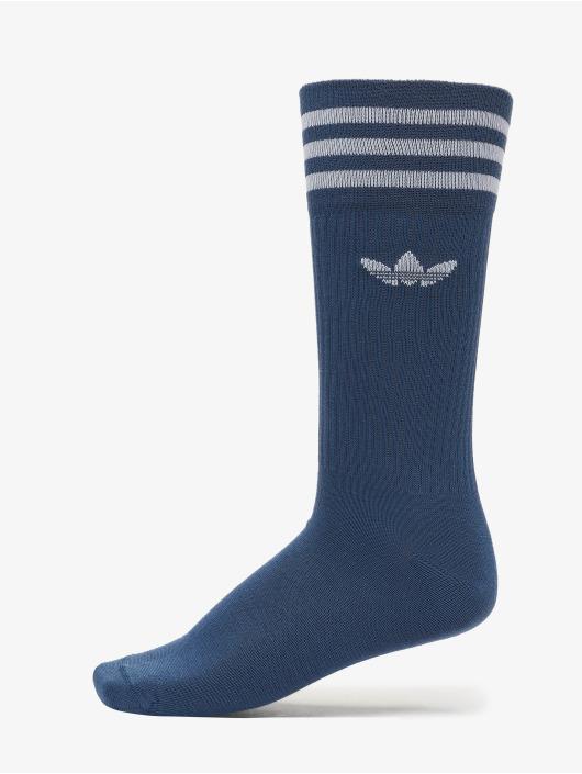 adidas Originals Ponožky Solid Crew modrá