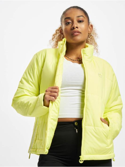 adidas Originals Prešívané bundy Short žltá