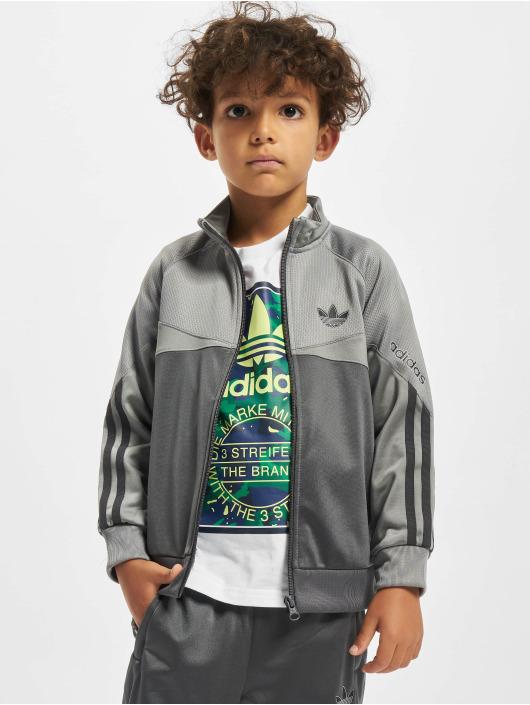 adidas Originals Prechodné vetrovky Trefoil šedá