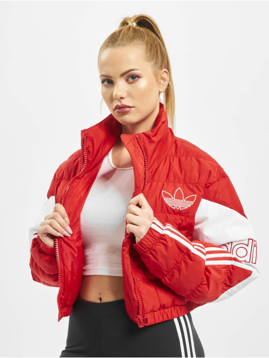 adidas Originals Puffer Jacket Cropped red