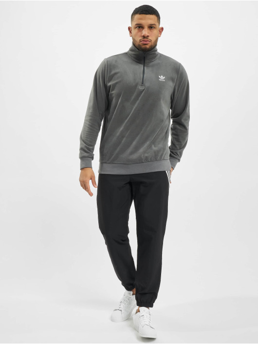 adidas Originals Pullover Essential Half Zip grau