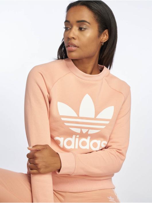 kauf verkauf gut kaufen heißer verkauf authentisch Adidas Originals Trefoil Sweatshirt Dust Pink