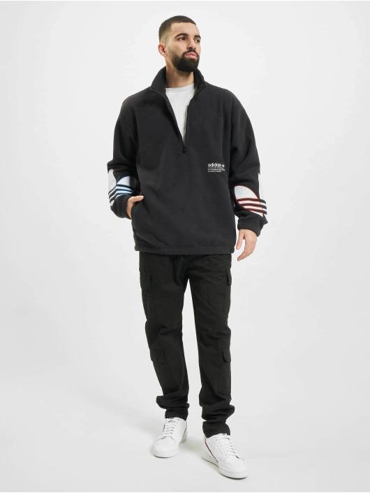 adidas Originals Pulóvre Tricolor Half Zip èierna