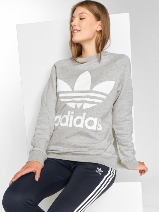 adidas originals Pulóvre Oversized Sweat šedá