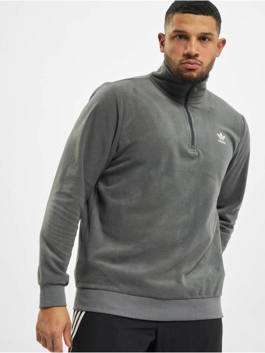 adidas Originals Pulóvre Essential Half Zip šedá