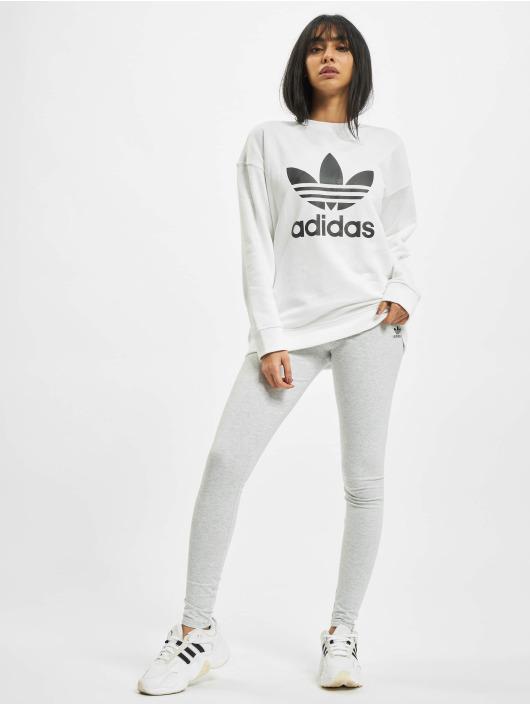 adidas Originals Pulóvre Trefoil biela