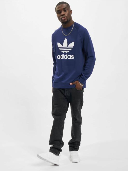 adidas Originals Pulóvre Trefoil Crew modrá