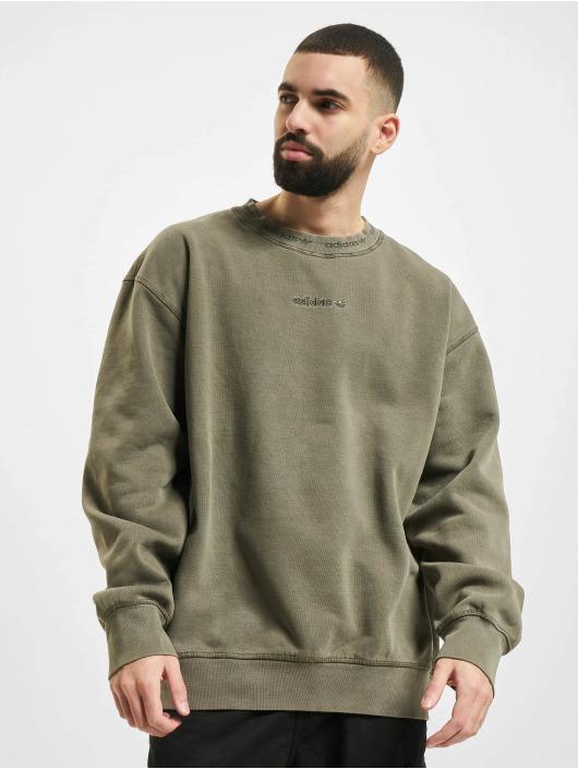 adidas Originals Pulóvre Dyed olivová