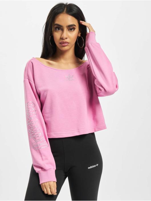 adidas Originals Pulóvre Slouchy Crew pink
