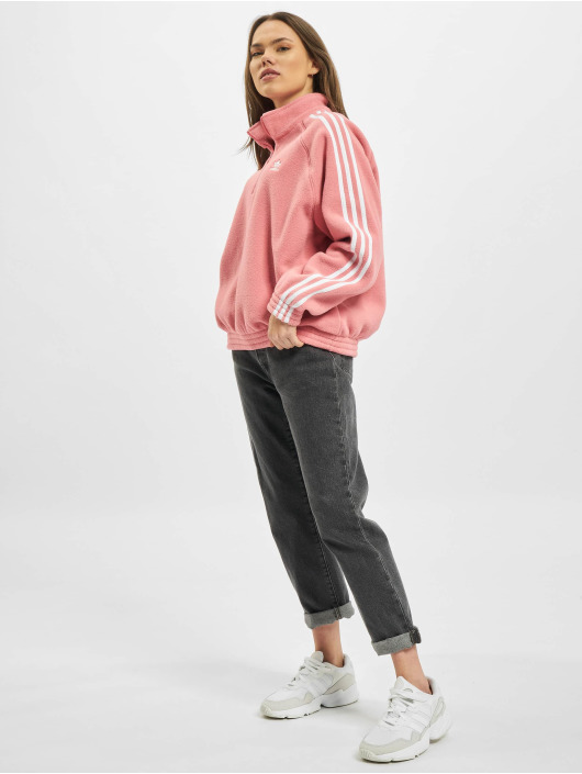 adidas Originals Pulóvre Originals Fleece Half Zip ružová