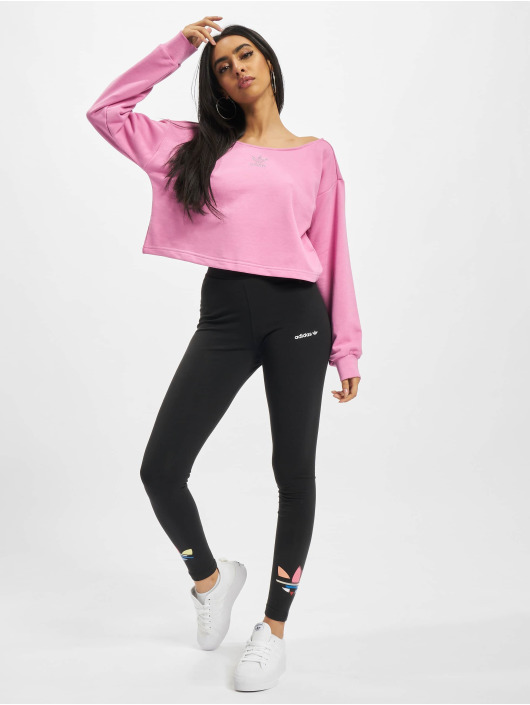 adidas Originals Puserot Slouchy Crew vaaleanpunainen