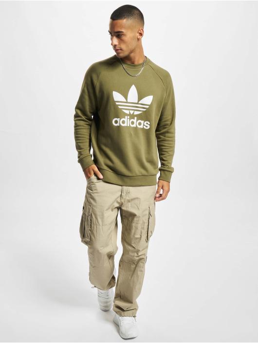 adidas Originals Puserot Trefoil Crew vihreä