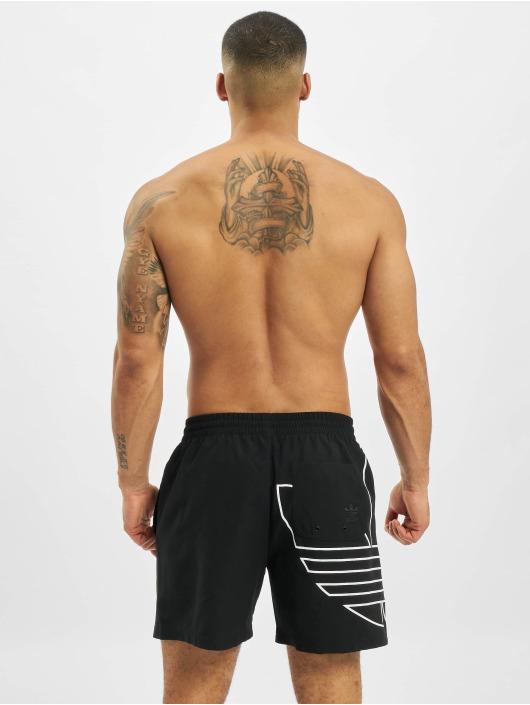 adidas Originals Short de bain Big Trefoil Outline noir
