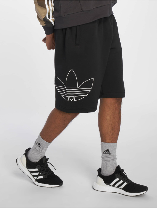 9d4add1c63b42 adidas Originals FT OTLN Shorts Black/White