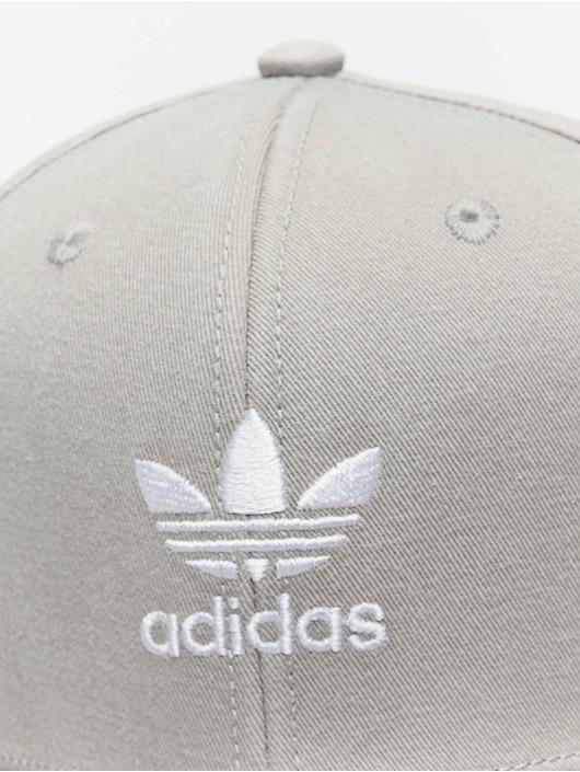 adidas originals Snapback Cap Adicolor Trefoil Flat grau