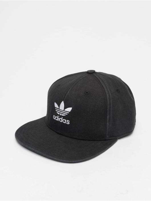 Adidas Originals Ac Trefoil Flat Snapback Cap Black
