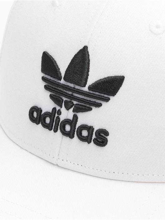adidas Originals Snapback Caps Classic Trefoil Baseball bílý