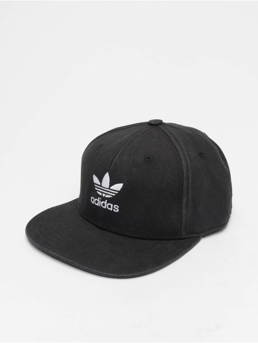 store new style factory authentic Adidas Originals Ac Trefoil Flat Snapback Cap Black