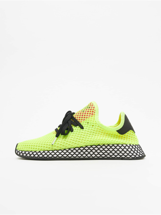 high fashion clearance prices new specials adidas Originals Deerupt Runner Sneakers Hi Res Yellow/Core Black/Shock Pink