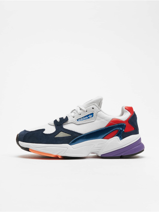 outlet super cute factory authentic adidas originals Falcon Sneakers Crysta White/Crystal White/Collegiate Navy