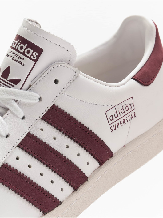 Adidas Superstar 80s White Maroon CM8439