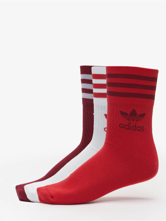 adidas Originals Socks 3 Pack Mix red