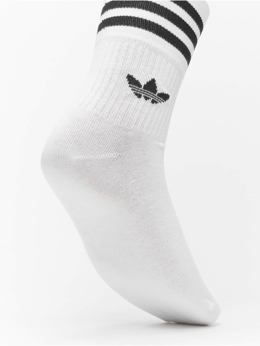 adidas Originals Socks Originals Mid Cut Solid 3 Pack white