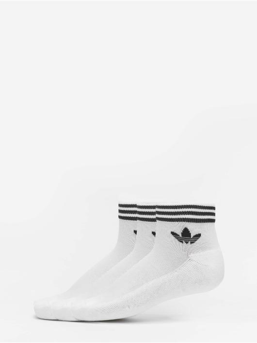 adidas Originals Sokker Trefoil Ankle 3 Pack hvit