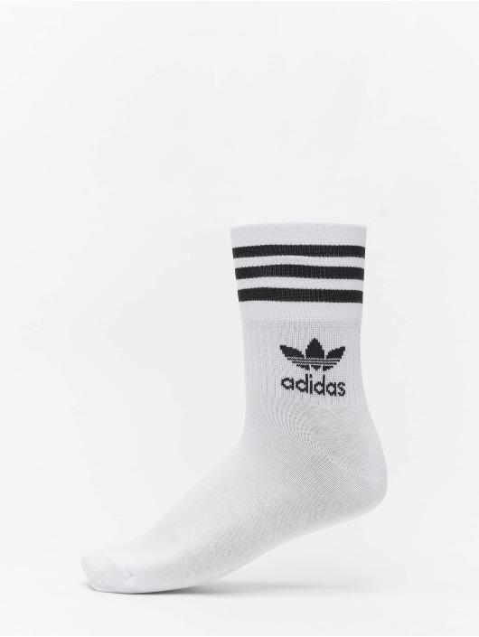 adidas Originals Sokker Mid Cut Crew hvit