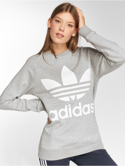 adidas originals Svetry Oversized Sweat šedá