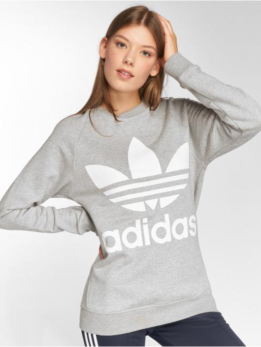 adidas originals Svetry Oversized Sweat šedá