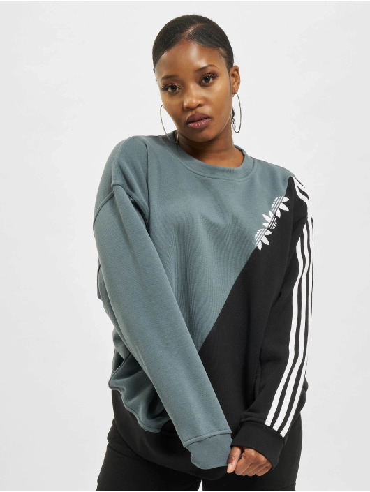 adidas Originals Sweat & Pull Sliced Trefoil bleu