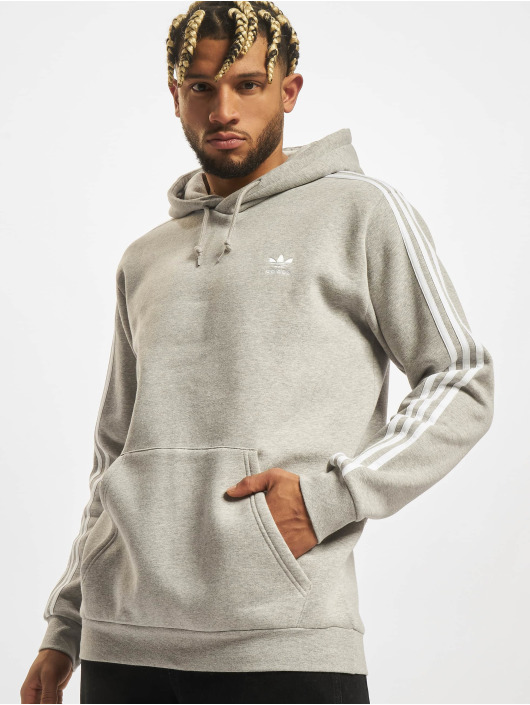 adidas Originals Sweat capuche 3-Stripes gris
