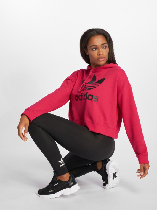 adidas originals Sweat capuche LF Crop magenta