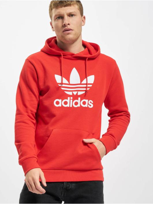 adidas Originals Sweat capuche Trefoil rouge