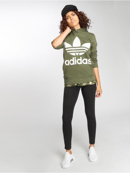 adidas originals Sweat capuche Trefoil vert