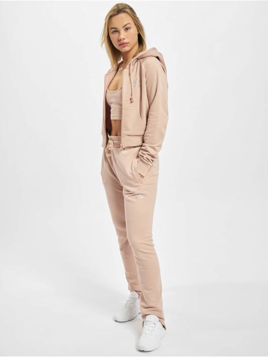 adidas Originals Sweat capuche zippé Cropped beige