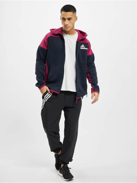 adidas Originals Sweat capuche zippé Zne Aerordy bleu